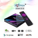 CDSVP Android 9.0 TV Box 4GB RAM 64GB ROM,Newest 2019 H96 MAX Smart TV Box RK3328 Quad-Core 64bit Support 2.4G/5G Dual WiFi 3D 4K Ultra HD H.265 USB3.0 BT4.0 Amlogic Internet Media Player,2gb/16gb