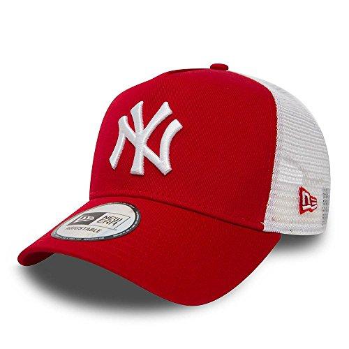 New Era Herren 9Forty AF Trucker New York Yankees Kappe, Rot, OSFA