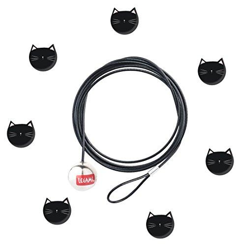 LEGAMI Bindungen cab0018Draht Magnetisch Cats, Schwarz, 120x 0.03x 0.03cm