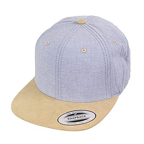 Yupoong by Flexfit Kappe Chambray Suede Snapback Cap blue beige - Einheitsgrösse - verstellbar