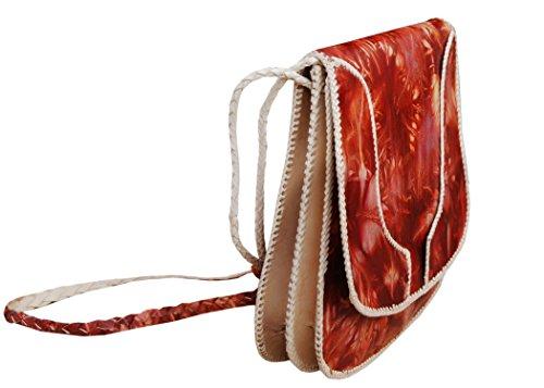 Echtes Leder Schultertasche , Handtasche , Umhängetasche für Frauen, Damen, Mädchen - handgefertigt (Tote Geprägte Gefüttert)