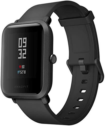 AMAZFIT Bip HUAMI Smartwatch Sportivo Orologio Cardiofrequenzimetro da Ciclismo GPS Fitness Tracker Cardiofrequenzimetro IP68 Impermeabile  Barometro Nero