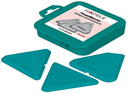 Gedotec Fugenglätter Silikon-Entferner Fugenwerkzeug Set für Dichtstoffe | Radiusschablone Kunststoff grün | hochelastisch - säurebeständig - formstabil | 3-teilig | 1 Set