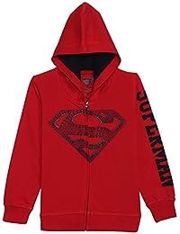 Superman Kids Boys Scarlet Red Color Sweatshirt