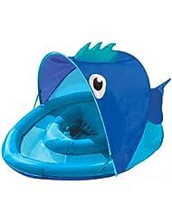 El anillo inflable de la nadada del bebé del asiento de la sombra de la natación del bebé inflable no contiene el inflador , rose red