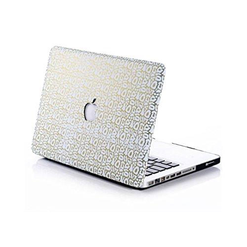 Matt Gummi beschichtet Ultra Slim Light Gewicht Hard Kunststoff Laptop-Hülle, Top und Bottom Cover Shell für Apple MacBook Air 29,5cm Fall–(f4m6, 29,5cm) - White Scrub-top