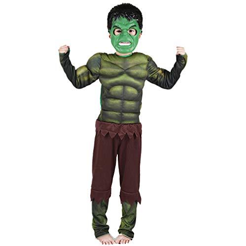 Kind Muskeln Hulk Kostüm - Lvvvs Kind Hulk-Muskel Halloween-KostüM Cosplay Tanzparty Party KostüM Anziehen