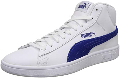 Puma Unisex White-Sodalite Blue Sneakers - 8 UK/India (42 EU)(4059506205590)