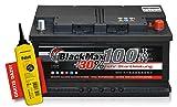 BlackMax+30% - 12 V / 100 Ah - 870 A/EN Autobatterie KFZ PKW Batterie inkl. Polfett