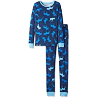 Hatley Kids Pj Set-Blue Moose, Pigiama