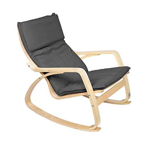 Mari-Home-Bradgate-Sedia-a-dondolo-e-poltrona-comoda-e-rilassante-cotone-lavabile-con-cuscino-colore-Gris
