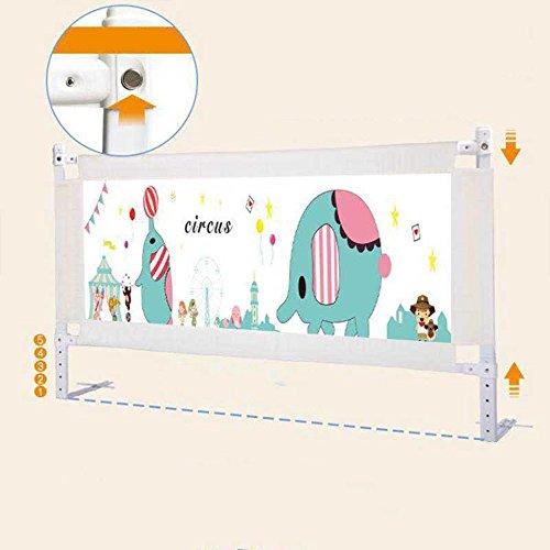 barandilla de Cama Valla para niños para Evitar la caída del Cabezal de la Cama 150/180 / 200cm Cama Riel para la Cama Universal (Altura de Ajuste 74-88cm) (Color : B, Tamaño : L-180cm)