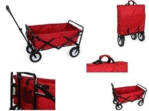 Grand chariot à tirer métal et tissu pliant, génial pour la famille - Equilibre et Aventure -