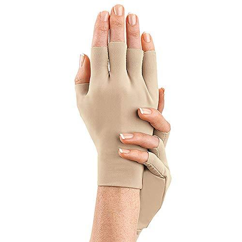 LIUQIGRASS Arthritis Handschuhe, Hohe Elastische Spannung Health Care Halbe Finger-Handschuhe Entlasten Rheumatism Hand Bone Joint Handschuh, Unterstützung Und Wärme Für Hände