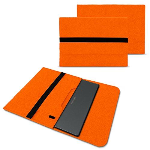NAUC Schutzhülle für Medion Akoya Akoya E4272 Convertible Tasche Hülle Filz Sleeve Cover Notebook Case, Farben:Orange