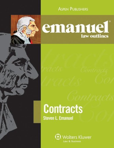 Emanuel Law Outlines: Contracts by Steven Emanuel (2010-06-08)