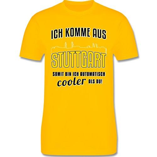 Städte - Ich komme aus Stuttgart - Herren Premium T-Shirt Gelb