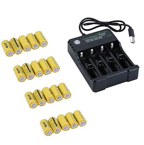Preisvergleich Produktbild GailMontan Wiederaufladbare Batterie für Netgear Arlo Security Camera - 20 Akkus - Gelb