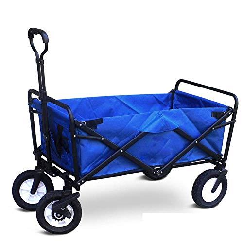 Zusammenklappbare Utility Wagon Beach Cart Warenkorb Tragbare Gepäckwagen Für Outdoor Camping Angeln,Blue (Wagon Sport Utility)