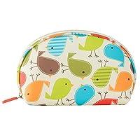 HOYOFO Print Women Small Cosmetic Bag Multifunction Travel Makeup Organizer Beautician Shell Bags For Phone Keys Case Make Up,Bird