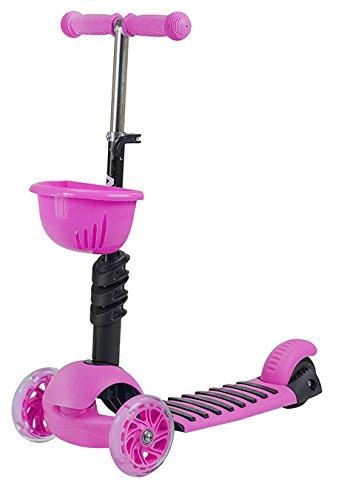 Scooter Roller Tretroller Cityroller Kickboard Kinderroller Dreirad LEDs HLB08 (rosa)