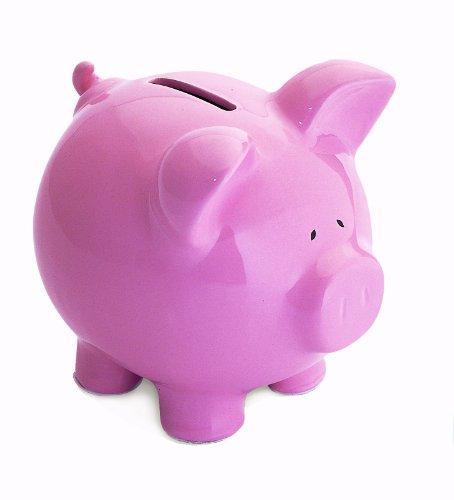 Pink Pig Piggybank Traditional Ceramic Bank