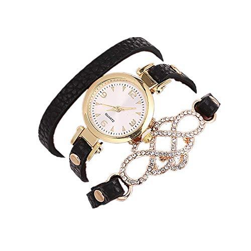 VECOLE Uhren Damen Arabisch Digital Präzise Zifferblatt Zifferblatt Armbanduhr Mode Einfach Armbanduhr Quarz Analoganzeige Uhr(Schwarz) - Uhren Ebel Damen Diamanten