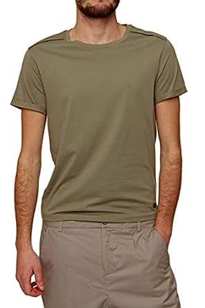 Michalsky Herren Shirt SUMMER CREWNECK TEE, Farbe: Olivgruen, Größe: M