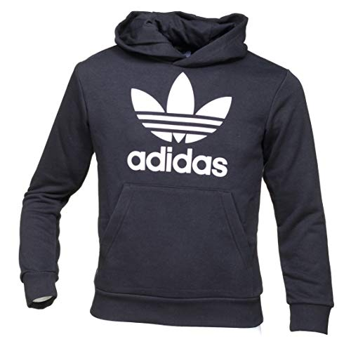 adidas Trefoil Hoodie Unisex Bambini Black/White 10 11A
