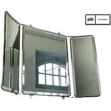 Espejo de pared de diseño industrial estilo tríptico