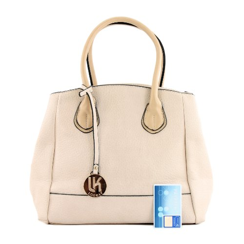 Handtasche Damentasche Tragetasche Tasche Kunstledertasche Lederimitat LK9927 Hautfarben
