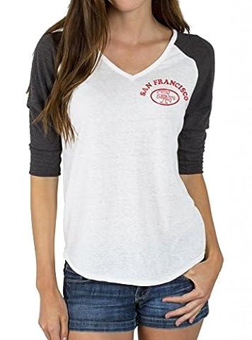 Junk Food NFL San Francisco 49ers Niners Raglan T-Shirt (Juniors XL)