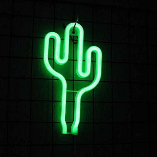 LQZ Kaktus LED Neon Nachtlicht Leuchtend Batterie USB Lampe Babyzimmer Kinderzimmer Licht Party Bar Kindergeburtstagsparty Mitgebseln