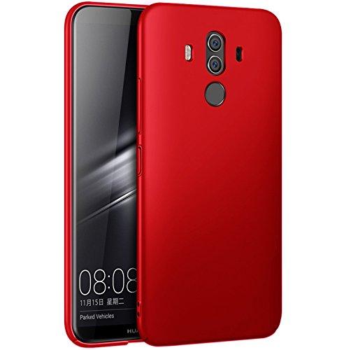 DolDer Huawei Mate 10 pro PC Kunststoff Hülle Schutzhülle Case Hardcase Hartschale-rot