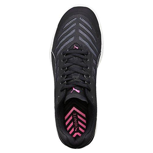 Puma Ignite V2  Women s Running Shoes  Black  Black White Pink 07   6 5 UK  40 EU