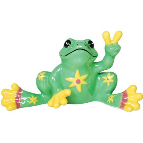 westland-giftware-peace-frogs-ceramic-lime-green-flower-frog-mini-figurine-2-inch-by-westland-giftwa