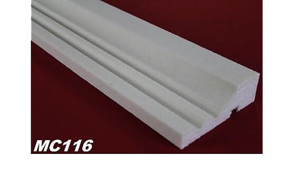 2 Meter Innendekor Wandleiste Flachprofil Profil Dekor sto/ßfest 20x40mm HW-2