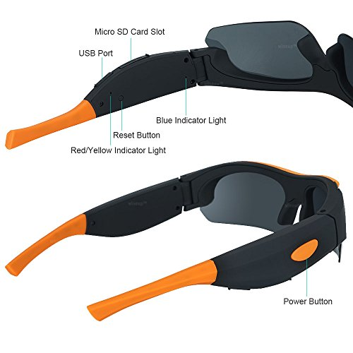 WISEUP Sport-Sonnenbrille mit Videokamera - 5