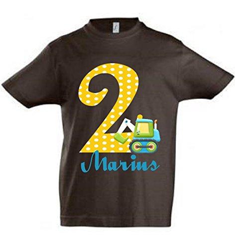 T-Shirt mit Namen Wunschname Geburtstagsshirt 4 Geburtstag viele Motive und Farben (2 Viele T-shirts)
