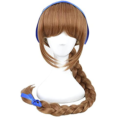 Xcoser Fairies Tinkerbell Fawn Wig Brown Long Braid Anime Wig by xcoser