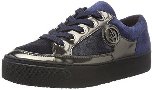 Armani Jeans 9250106A431, Sneakers Basses femme - Bleu - Blau (DARK NAVY 31835), 37