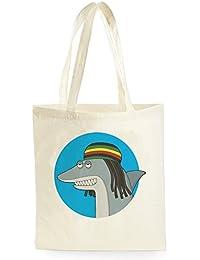 Reggae Shark Bob Marley, Bolsa de Compras para ir de Compras, Picnic, Almacenamiento en el Hogar y Escuela, tote bag