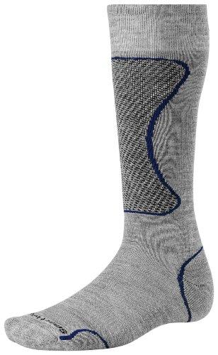 Smartwool Merino Herren Perf. Socks PhD Ski Light, Gray/Royal, S, SW338