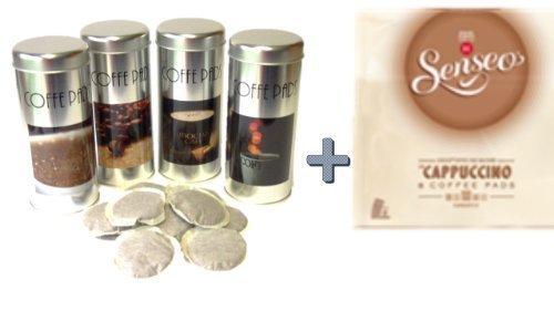 Senseo Kaffeepads Cappuccino AL, Milchschaumklassiker, Kaffee, neues Design, neue Rezeptur + 4 Pad...