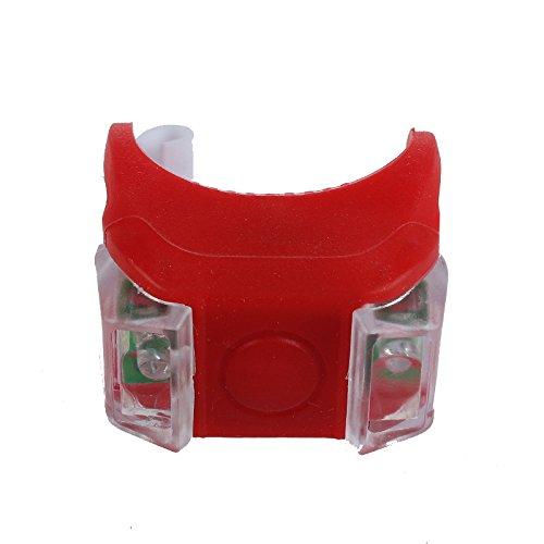 LEvifun Fahrradlicht CR2032 Batterie Geladen LED Rücklicht Ventil Licht Fahrrad Rücklicht Fahrradbeleuchtung Fahrradlenker Fahrradlampe Radfahren Superhelle Sport Camping Warnlicht Wasserdicht fuer Kinder- , Herren- und Damen Raeder F17 (Rot)