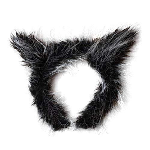 Kunstpelz Werwolf Ohren Alice Haarband Stirnband Kostüm Halloween