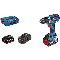 Bosch Professional Perceuse-visseuse sans fil GSR 18V-60C (18V, 2batteries 5,0Ah, Maximum 60Nm, Mandrin de métal : 13mm, L-Boxx)