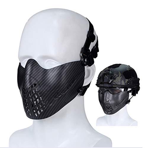 Máscara Táctica Militar V5 Media Máscara De Malla Facial con Protección para...