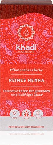 khadi Pflanzenhaarfarbe Reines Henna 100g I Haarfarbe Orangerot, Kupfer, Dunkelrot I Naturhaarfarbe 100{b3fbb0d3ceea5e30dd1c4f29545401d8f29693bb2e2781b052fad64ed5daabfa} natürlich