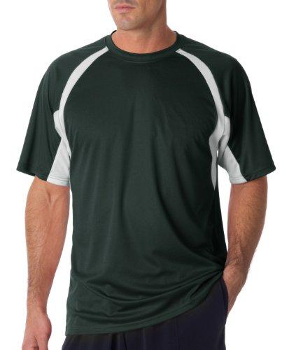Badger Sportswear Men' s Hook performance tee Multicolore - Forest/ White